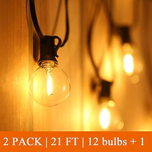 Catena Luminosa Esterno LED 24+2 Bulbi,Tomshine Illuminazione Giardino Luci Stringa Lampadina con 12X2+2 G40 LED Bulbi [Classe di efficienza energetica A+] - 1