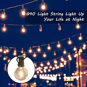 Catena Luminosa Esterno LED, QXMCOV 15 Metro Luce Stringa Esterno Solare, Luci Stringa Lampadina con 50 Lampadine Bianco Caldo Catena Luminosa Solare Decorazione per Giardino, Casa, Feste, Matrimonio - 4