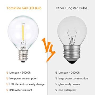 Catene Luminose LED,Tomshine Illuminazione Giardino Luci Stringa Lampadina con 12+1 G40 LED Bulbi [Classe di efficienza energetica A+] - 3