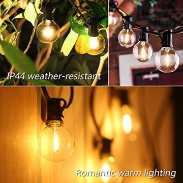 Catene Luminose LED,Tomshine Illuminazione Giardino Luci Stringa Lampadina con 12+1 G40 LED Bulbi [Classe di efficienza energetica A+] - 4