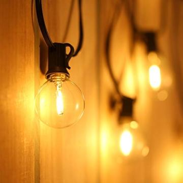 Catene Luminose LED,Tomshine Illuminazione Giardino Luci Stringa Lampadina con 12+1 G40 LED Bulbi [Classe di efficienza energetica A+] - 1