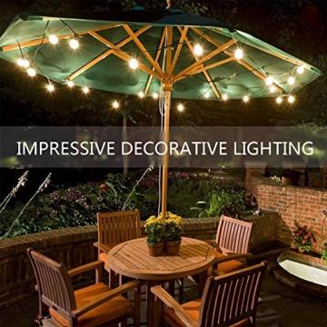 Catene Luminose LED,Tomshine Illuminazione Giardino Luci Stringa Lampadina con 12+1 G40 LED Bulbi [Classe di efficienza energetica A+] - 6