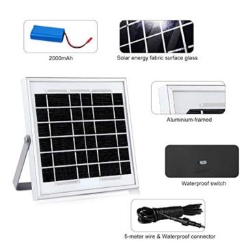 CLY Faretto Solare con Sensore di Movimento 60 LED, Luce Solare da Esterno, Faro Pannello Solari Impermeabile(IP66), Lampada Solare da Esterno con Sensore, 6500K Bianco per Giardino - 7