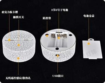 Combattente Luce Notturna 3D 7 Colori Decorazione Della Casa Lampada Da Tavolo Base Crepa Led Touch Light Luce Illusione 3D - 2
