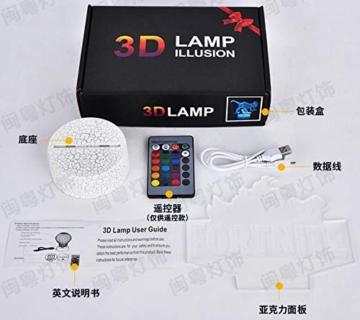 Combattente Luce Notturna 3D 7 Colori Decorazione Della Casa Lampada Da Tavolo Base Crepa Led Touch Light Luce Illusione 3D - 4