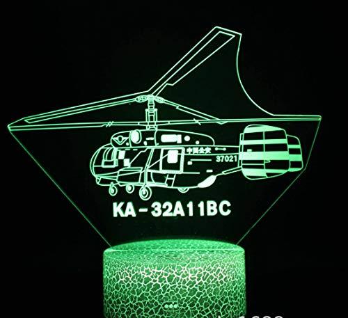 Combattente Luce Notturna 3D 7 Colori Decorazione Della Casa Lampada Da Tavolo Base Crepa Led Touch Light Luce Illusione 3D - 1