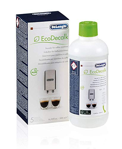 De'Longhi DLSC500 ECODECALK Decalcificante Macchine Caffè Ecologico, Ingredienti da Materie Prime Naturali, 500 ml - 1