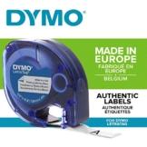 Dymo LetraTag etichette per stoffe e tessuti Stirabile, rotolo da 12 mm x 2 m, stampa nera su bianco, S0718850 - 1