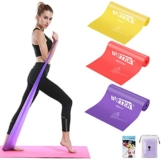 Elastici Fitness (Set di 3), Bande Elastiche Fitness con 3 Livelli di Resistenza, Fasce Elastiche fitness Ideale per Pilates, yoga, Riabilitazione, Allenamento di Forza e Flessibilità, Stretching - 1