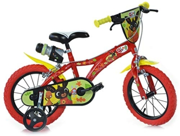 "giordanoshop Bambino, Dino Bikes-Bicicletta 14"" Bing Rossa 2 Freni, 3 - 1"