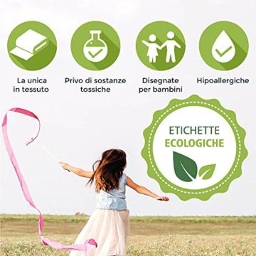 Haberdashery Online 100 etichette personalizzate termoadesive con CERTIFICATO ECOLOGICO per marcare nomi da stirare con ferro sui vestiti per bambini, grembiuli, abbigliamento - 4