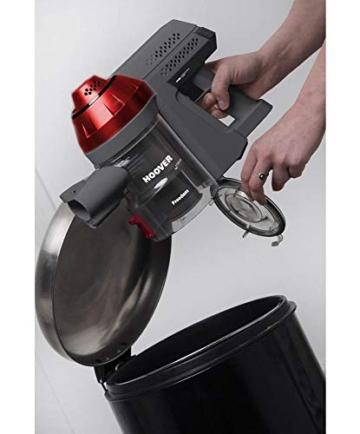 Hoover FD22RP011 Freedom - Scopa Elettrica Senza Filo, Autonomia fino a 25 min, 0,7 Litri, Allergy & Pets, Grigio e Rosso - 5