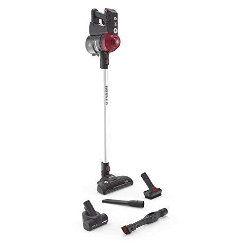Hoover FD22RP011 Freedom - Scopa Elettrica Senza Filo, Autonomia fino a 25 min, 0,7 Litri, Allergy & Pets, Grigio e Rosso - 1