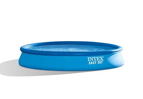 Intex 28158 Easy Set Piscina Tonda Fuoriterra Gonfiabile con Pompa Filtro, Blu, 457 cm - 1