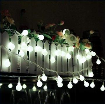 JP-LED Catena Luminosa Di Luci Led 13M【filo di 100 lampadine 10M Cavo Di Prolunga 3M】Luce Naturale Da Esterno E Interno Con 8 Modalità Flash. Per Giardino, Casa, Feste, Natale, Matrimonio, Decorazioni - 2
