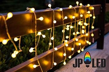 JP-LED Catena Luminosa Di Luci Led 13M【filo di 100 lampadine 10M e Cavo Di Prolunga 3M】Luci Da Esterno E Interno Con 8 Modalità Flash. Per Giardino, Casa, Feste, Natale, Matrimonio, Decorazioni - 7