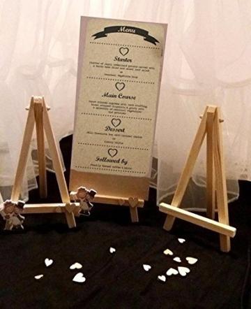 JZK 10 Cavalletto segnaposto foto mini cavalletti piccoli legno supporto segnatavolo per matrimonio battesimo compleanno decorazione tavolo - 3