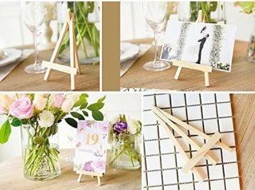 JZK 10 Cavalletto segnaposto foto mini cavalletti piccoli legno supporto segnatavolo per matrimonio battesimo compleanno decorazione tavolo - 4