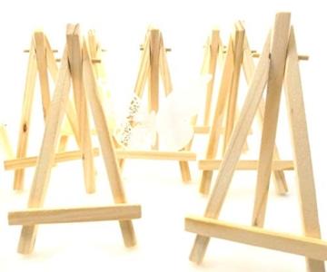 JZK 10 Cavalletto segnaposto foto mini cavalletti piccoli legno supporto segnatavolo per matrimonio battesimo compleanno decorazione tavolo - 1