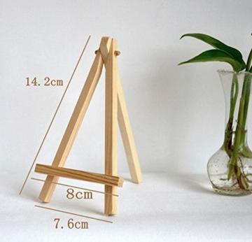 JZK 10 Cavalletto segnaposto foto mini cavalletti piccoli legno supporto segnatavolo per matrimonio battesimo compleanno decorazione tavolo - 5