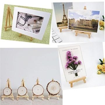 JZK 10 Cavalletto segnaposto foto mini cavalletti piccoli legno supporto segnatavolo per matrimonio battesimo compleanno decorazione tavolo - 7