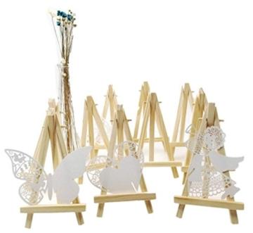 JZK 10 Cavalletto segnaposto foto mini cavalletti piccoli legno supporto segnatavolo per matrimonio battesimo compleanno decorazione tavolo - 8