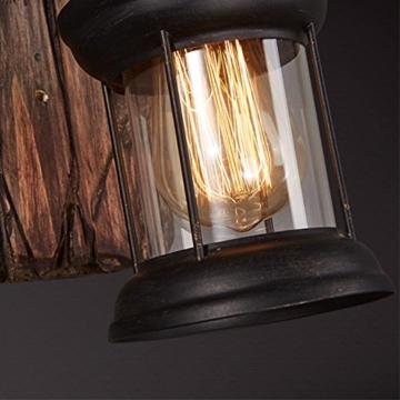 LOFT abbigliamento vintage in legno massiccio American Arts Lanterna bar caffetteria ristorante-camera da letto vetro vintage lampada da parete - 5