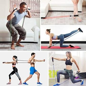 MeaMae Care Set di Elastici Fitness Professionale con 5 bande elastiche fitness resistenza Attrezzi palestra fitness casa, Yoga, Pilates - 2