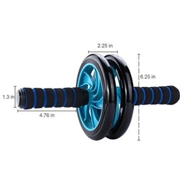 Mitavo Ab roller, ab wheel , ruota allenamento con tappetino per le ginocchia, per il fitness e l'allenamento dei addominali / muscoli delle spalle / muscoli delle braccia / muscoli delle gambe - 2