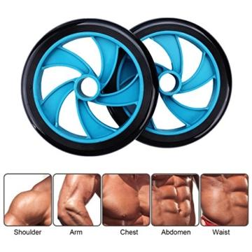 Mitavo Ab roller, ab wheel , ruota allenamento con tappetino per le ginocchia, per il fitness e l'allenamento dei addominali / muscoli delle spalle / muscoli delle braccia / muscoli delle gambe - 3
