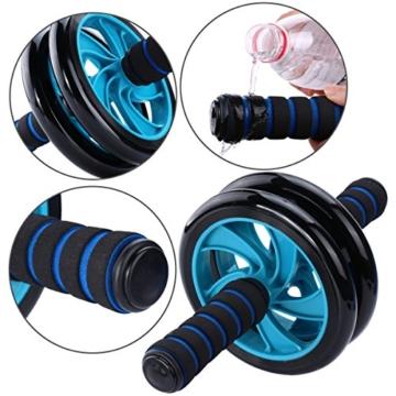 Mitavo Ab roller, ab wheel , ruota allenamento con tappetino per le ginocchia, per il fitness e l'allenamento dei addominali / muscoli delle spalle / muscoli delle braccia / muscoli delle gambe - 4