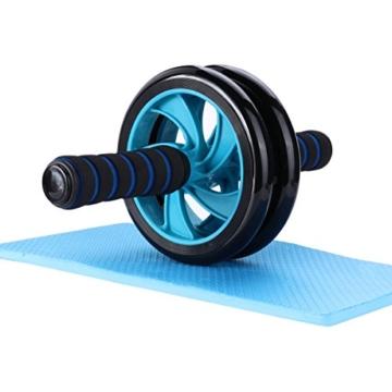 Mitavo Ab roller, ab wheel , ruota allenamento con tappetino per le ginocchia, per il fitness e l'allenamento dei addominali / muscoli delle spalle / muscoli delle braccia / muscoli delle gambe - 1