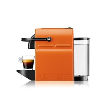 Nespresso Inissia Macchina per caffé espresso, a capsule, 1260 W, 0.7 L, Arancio (Summer Sun) - 6
