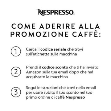 Nespresso Inissia Macchina per caffé espresso, a capsule, 1260 W, 0.7 L, Arancio (Summer Sun) - 7