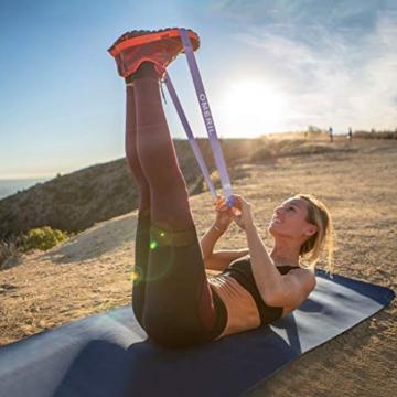 OMERIL Elastici Fitness (Set di 5), Bande di Resistenza Fitness con 5 Livelli di Resistenza, Fasce Elastiche Fitness per Crossfit, Yoga, Pilates, Squats, Lunges, Stretching, Allenamento di Forza - 2