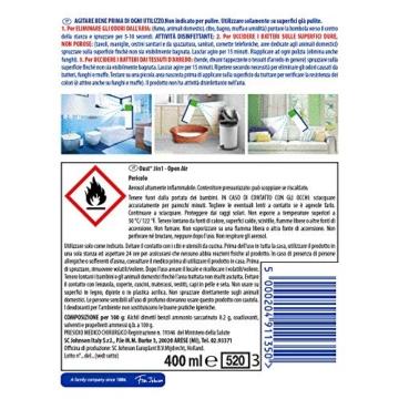 Oust 3 in 1 Spray Elimina Odori, Disinfettante, Uccide il 99.9 % dei Batteri sulle Superfici, 1 Confezione da 400 ml - 2