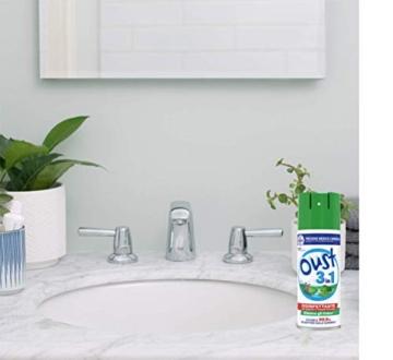 Oust 3 in 1 Spray Elimina Odori, Disinfettante, Uccide il 99.9 % dei Batteri sulle Superfici, 1 Confezione da 400 ml - 6