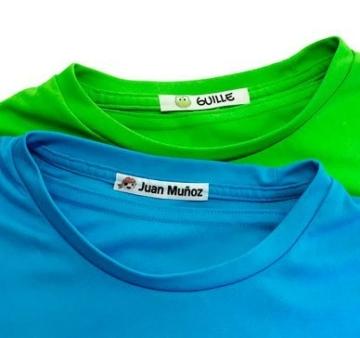 Pacchetto di 155 etichette: 100 etichette di tessuto per contrassegnare vestiti + 55 etichette adesive per contrassegnare oggetti/ etichette per abiti/ etichette da scuola. (Colore 15) - 2
