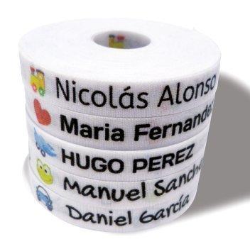 Pacchetto di 155 etichette: 100 etichette di tessuto per contrassegnare vestiti + 55 etichette adesive per contrassegnare oggetti/ etichette per abiti/ etichette da scuola. (Colore 15) - 3