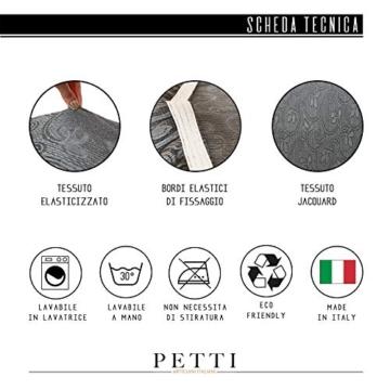 Petti Artigiani Italiani Copridivano Elasticizzato, Copripoltrona Grigio, Tessuto Jaquard, 100% Prodotto in Italia - 5