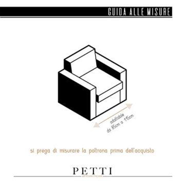 Petti Artigiani Italiani Copridivano Elasticizzato, Copripoltrona Grigio, Tessuto Jaquard, 100% Prodotto in Italia - 6