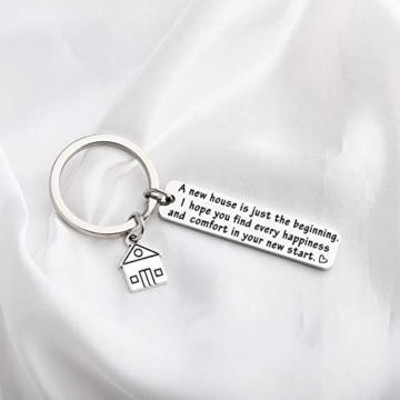 Portachiavi, idea regalo per la casa nuova, regalo per la prima casa, regalo per il proprietario di una nuova casa. e st, colore: Silver, cod. NA - 2