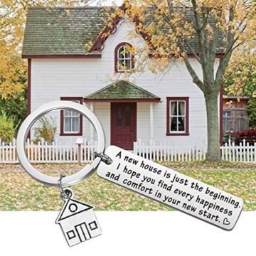 Portachiavi, idea regalo per la casa nuova, regalo per la prima casa, regalo per il proprietario di una nuova casa. e st, colore: Silver, cod. NA - 3