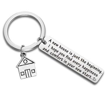 Portachiavi, idea regalo per la casa nuova, regalo per la prima casa, regalo per il proprietario di una nuova casa. e st, colore: Silver, cod. NA - 1