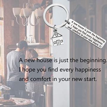 Portachiavi, idea regalo per la casa nuova, regalo per la prima casa, regalo per il proprietario di una nuova casa. e st, colore: Silver, cod. NA - 6