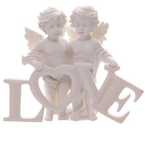 Puckator CHE82 - Coppia d'angioletti Che reggono Le Lettere Love - 1