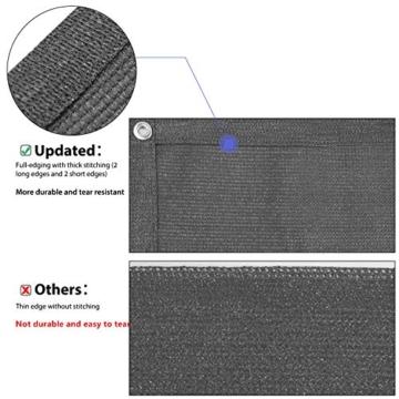 Sekey Recinzione Copertura per Balcone Giardino Protezione della Privacy Schermo in HDPE Permeabile, Leggermente Trasparente, per Estate ed Inverno, con Fascette e funi, 75 x 300cm Antracite - 2