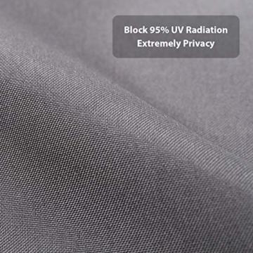 Sekey Recinzione Copertura per Balcone Protezione della Privacy Schermo in Polyster Opaco, per Balcone Giardino terrazza, con Occhielli Corde e Fascetta, 75 x 300cm Antracite - 5