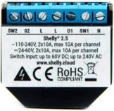 Shelly 2.5 Wireless WiFi Compatibile Alexa e Google Home Domotica relè Intelligente Smart Home - 1