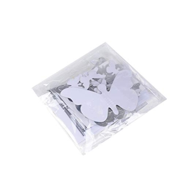 Specchio Adesivo da Parete Vaso Farfalle Argento Decorativo Decorazione per Casa Camera Salotto Bagno Muro Porta Armadio - 2